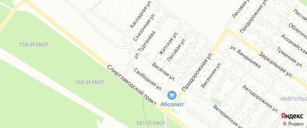 Веселая улица на карте Улан-Удэ с номерами домов