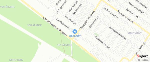 Улица Придорожная проезд 1 на карте Улан-Удэ с номерами домов