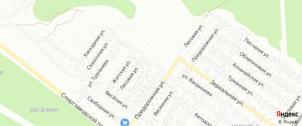 Каскадная улица на карте Улан-Удэ с номерами домов