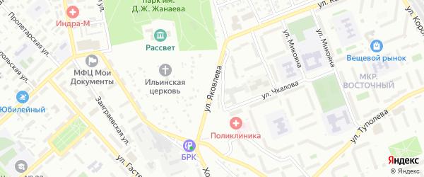 Улица Яковлева на карте Улан-Удэ с номерами домов