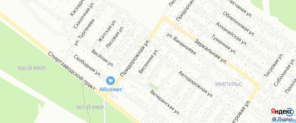 Весенняя улица на карте Улан-Удэ с номерами домов