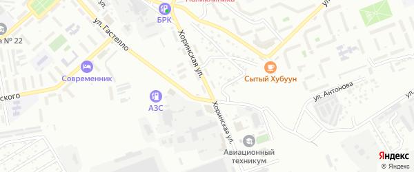 Хоринская улица на карте территории ДНТ Загорска с номерами домов