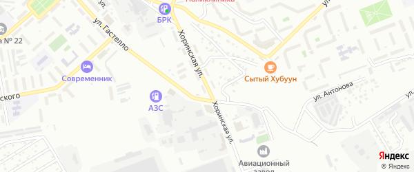Хоринская улица на карте Улан-Удэ с номерами домов