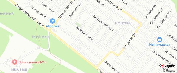 Ветеранская улица на карте Улан-Удэ с номерами домов