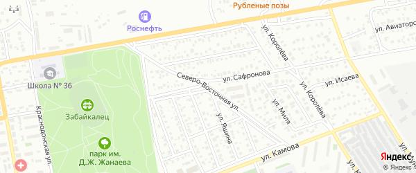 Северо-Восточная улица на карте Улан-Удэ с номерами домов