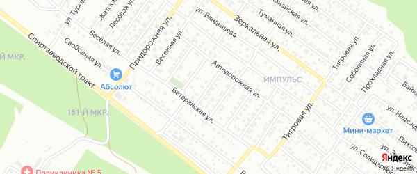 Автодорожная 1-й проезд на карте Улан-Удэ с номерами домов