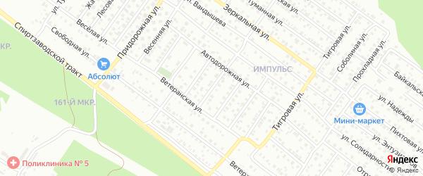 Автодорожная 2-й проезд на карте Улан-Удэ с номерами домов