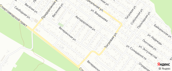 Автодорожная 3-й проезд на карте Улан-Удэ с номерами домов