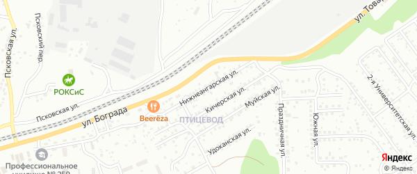 Нижнеангарская улица на карте Улан-Удэ с номерами домов