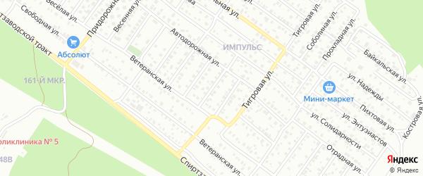 Автодорожная 4-й проезд на карте Улан-Удэ с номерами домов