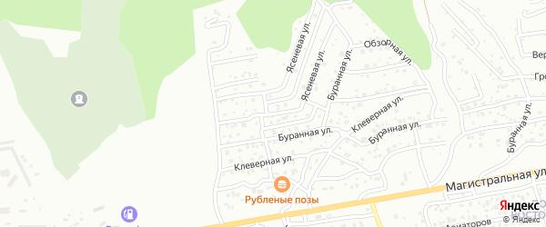 Ясеневая улица на карте Улан-Удэ с номерами домов