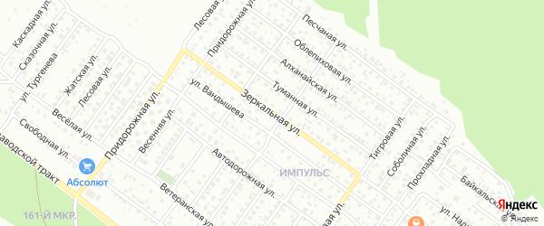 Зеркальная улица на карте Улан-Удэ с номерами домов
