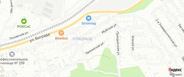 Муйская улица на карте Улан-Удэ с номерами домов