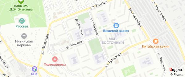 Улица Чкалова на карте Улан-Удэ с номерами домов