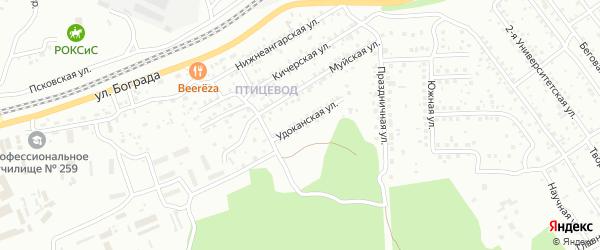 Удоканская улица на карте Улан-Удэ с номерами домов