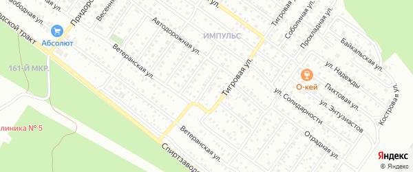 Автодорожная 5-й проезд на карте Улан-Удэ с номерами домов