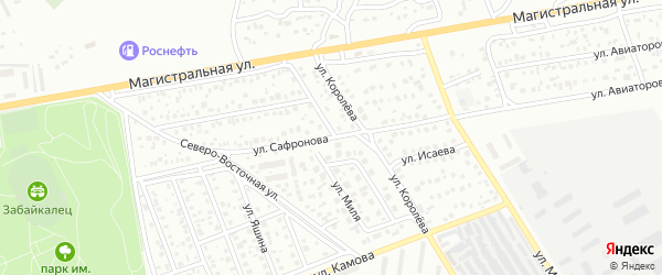 Улица Сафронова на карте Улан-Удэ с номерами домов