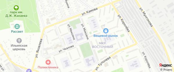 Улица Микояна на карте Улан-Удэ с номерами домов