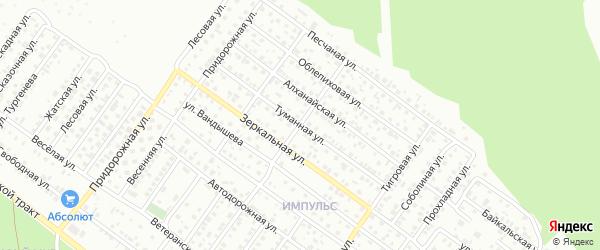 Туманная улица на карте Улан-Удэ с номерами домов