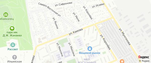 Улица Камова на карте Улан-Удэ с номерами домов