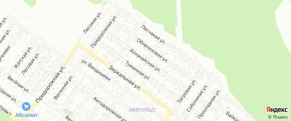 Алханайская улица на карте Улан-Удэ с номерами домов