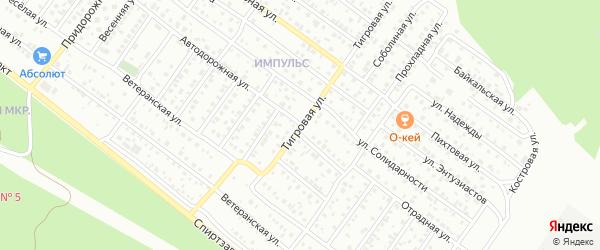 Авиадорожная улица на карте Улан-Удэ с номерами домов