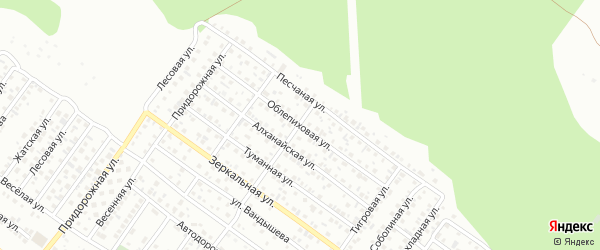Облепиховая улица на карте Улан-Удэ с номерами домов