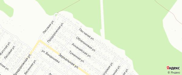 Песчаная улица на карте Улан-Удэ с номерами домов