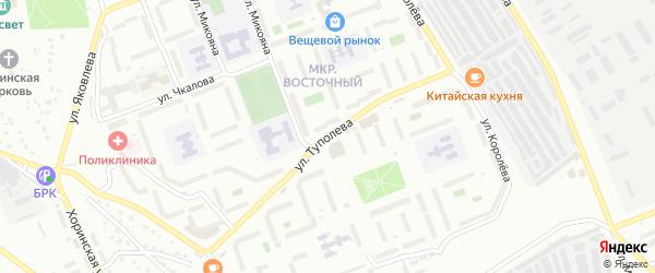 Улица Туполева на карте Улан-Удэ с номерами домов