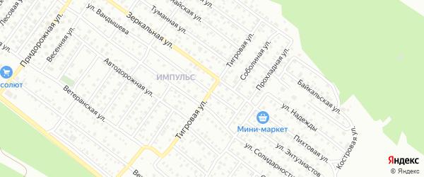 Тигровая улица на карте Улан-Удэ с номерами домов