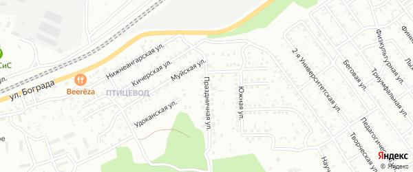 Улица Праздничная проезд N1 на карте Улан-Удэ с номерами домов