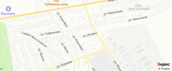 Улица Исаева на карте Улан-Удэ с номерами домов