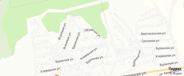 Обзорная улица на карте Улан-Удэ с номерами домов