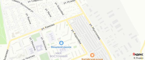 Улица Королева на карте Улан-Удэ с номерами домов