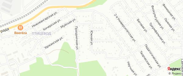Улица Южная проезд 4 на карте Улан-Удэ с номерами домов