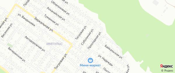 Соболиная улица на карте Улан-Удэ с номерами домов