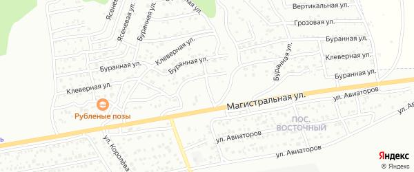 Клеверная улица на карте Улан-Удэ с номерами домов