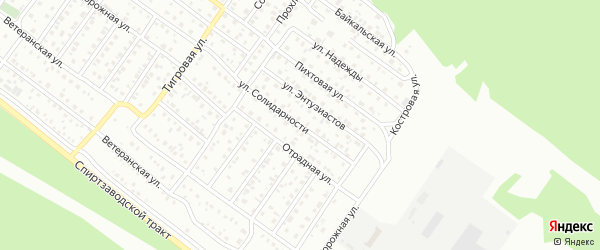 Улица Солидарности на карте Улан-Удэ с номерами домов