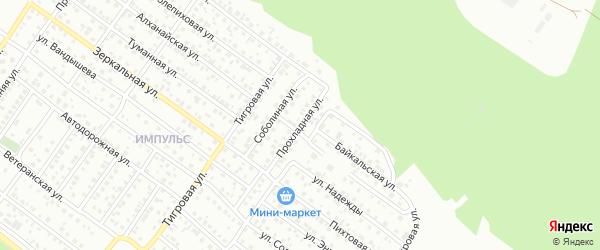 Прохладная улица на карте Улан-Удэ с номерами домов