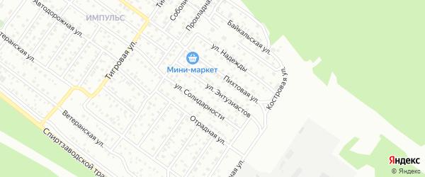 Улица Энтузиастов на карте Улан-Удэ с номерами домов