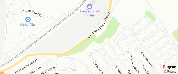 Улица Товарный двор на карте Улан-Удэ с номерами домов