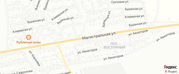 Магистральная улица на карте Улан-Удэ с номерами домов