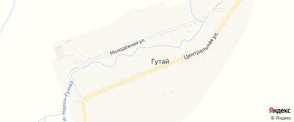 Молодежная улица на карте улуса Гутай с номерами домов