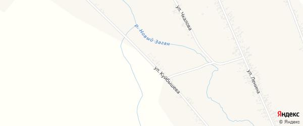 Улица Куйбышева на карте села Нового Загана с номерами домов