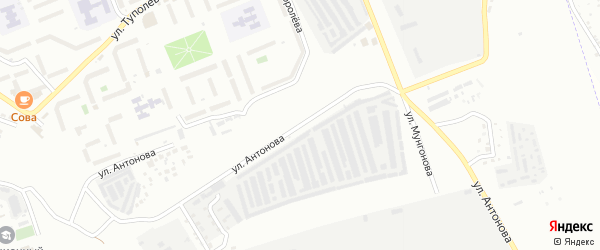 Улица Антонова на карте Улан-Удэ с номерами домов