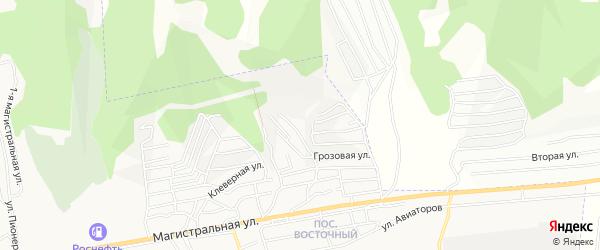 Карта территории ДНТ Горки города Улан-Удэ в Бурятии с улицами и номерами домов