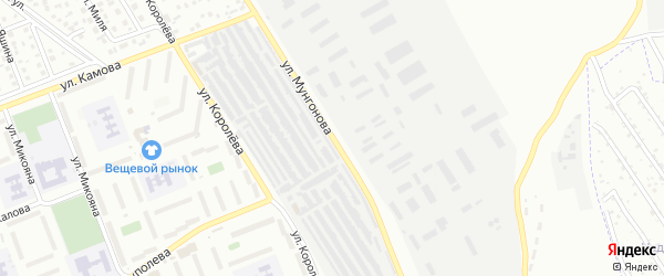 Улица Мунгонова на карте Улан-Удэ с номерами домов