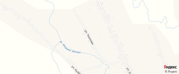 Улица Чкалова на карте села Нового Загана с номерами домов