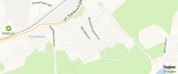 Путейская территория на карте Беговой улицы с номерами домов