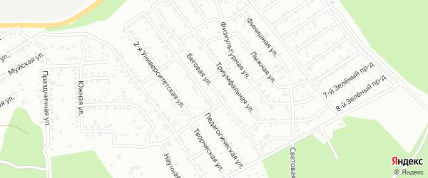 Беговая улица на карте Улан-Удэ с номерами домов